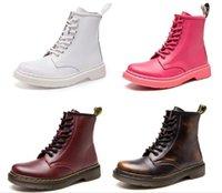 zapatos schneestiefel groihandel-unisex echter Leder Frauen Designer-Schuhe Männer Frauen Winter Schneeschuhe Motorradstiefel Doc martens Martin Stiefel Schuhe Zapatos de mujer