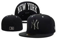нью-йоркские шляпы оптовых-Хорошее качество нью-йоркские приспособленные шляпы для мужчин женщин спортивные хип-хоп мужские шляпы от солнца кости