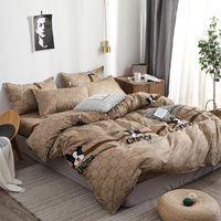 Wholesale black white bedding sets full resale online - Home Textile Cartoon Dog Duvet Cover Pillowcase Bed Sheet Simple Boy Girls Bedding Sets Single Double Bedlinen Free ship