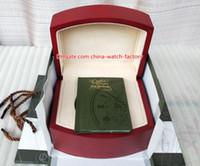 au reloj al por mayor-Lujo de alta calidad AU Reloj Offshore Caja original Papeles Cajas de madera rojas Bolso For15400 15710 15703 26703 26470 CAL.3120 3126 Relojes