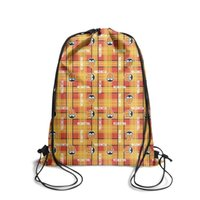 Wholesale popular boys backpacks for sale - Group buy Sports backpack Valencia CF Los Ches VCF plaid fashion popular personalizedpackage durable limited edition backpack pullstring sack pouch pu