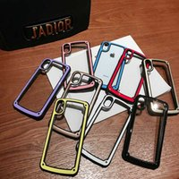 Wholesale jelly color case for sale – best Colorful Cute PC Bumper Cell Phone Cover Clear Acrylic Back Jelly Macaroon Color Phone Case for iPhone PLUS XR X MAX