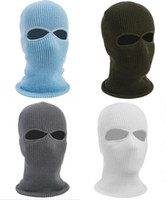 Wholesale army full face mask resale online - New Army Tactical Winter Warm Ski Cycling Hole Balaclava Hood Cap Full Face Mask outdoor CS painball masks hats
