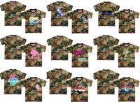 розовые камуфляжные майки оптовых-2019 новые повседневные мужчины модная одежда розовый дельфин футболки для мужчин хип-хоп камуфляж футболки S-3XL