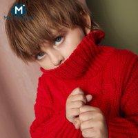 cuello alto de algodón para niños al por mayor-Mini Balabala Niños cuello alto suéter de algodón muchachos del niño de ochos suéter de invierno de los niños de tejer ropa Ropa de 2-7T