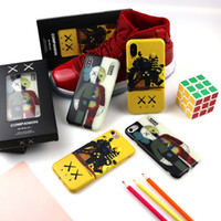 Wholesale toy apples resale online - Luminous KAWS Toys Phone Case TPU Phone Cover For iPhone X XS MAX Cartoon Cute Phone Protector with Gift Box E