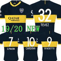 tops junior al por mayor-TOP Tailandia Nuevo 2019 2020 Boca Juniors camiseta de fútbol 2019 GAGO CARLITOS camiseta de fútbol local TEVEZ Boca Juniors camisetas de futbol