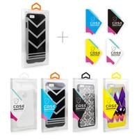 autocollant d'emballage de détail achat en gros de-Transparent Blister PVC En Plastique Clair Emballage De Détail De Détail Emballage Boîte pour iPhone X XS MAX 6s plus 7 8 Plus Mobile Phone Case 4 Couleurs Autocollants