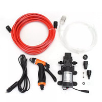 Wholesale 12v electric water pumps for sale - Group buy DC V W High Pressure Electric Washer Cleaning Washing Gun Water Pump Set
