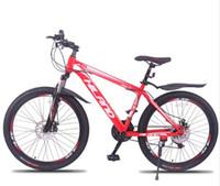ingrosso moto 18 pollici-Bicicletta da 26 pollici con telaio in acciaio per mountain bike con Shimano Break e Shifter nero e rosso per altezza 150-180 cm