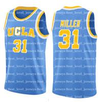 31 baloncesto al por mayor-0 Westbrook Reggie 31 UCLA Russell Miller Jersey NCAA Universidad Hombres Baratos al por mayor Camisetas de baloncesto Bordar Yadflhkaljsb /; asdflkj df