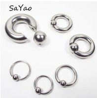 Wholesale eyebrows lip piercing for sale - Group buy 2 Pieces Big Stainless Steel Captive Hoop Rings BCR Eyebrow Tragus Ear Piercing Nose Closure Nipple Bar Lips Body Jewelry