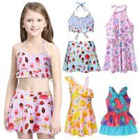 Wholesale kids girls pool resale online - 2 new Y Kid Girls Swimdress Swimwear Bathing Pool Swimsuit Swimmers Sea Beachwear