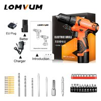 Wholesale mini rechargable battery resale online - Lomvum New Mini Power Tools v Double Speed Electric Cordless Drills Rechargable Hand Tools Battery Electric Screwdriver Drill