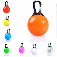 Wholesale night lights for dog collars resale online - LED Pet Signal Dog Glow Collar Light Pendant Pet Night Out Security Lights for Dogs Anti Lost Necklace Luminous Bright Decoration LXL722