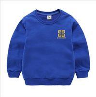 marca de suéter para niños al por mayor-Kids brand Hoodie otoño niños de manga larga para bebés niñas niños abrigo de algodón Tops Sports Casual Tees suéter TR01