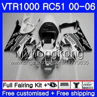rc51 blanco al por mayor-Kit para HONDA VTR 1000 RC51 Gris blanco stock 2000 2001 2002 2004 2004 2005 2006 257HM46 RTV1000 SP1 SP2 VTR1000 00 01 02 03 04 05 06 Carenado