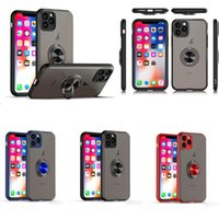 Wholesale red matte cars for sale - Group buy Anti fingerprint Matte Phone Case Magnetic Car Ring Holder Hard PC Armor Case For iPhone XR XS MAX plus Samsung Note Note Pro
