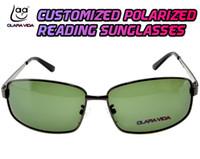 óculos de sol personalizados venda por atacado-= Polarizados Leitura Óculos de Sol = quadrado III personalizável polarizado Costume fez óculos de sol -1 a -6 +1 +1.5 +2 a +4