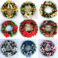 Wholesale 2019 latest new Christmas wreath decoration with gold powder pendant Christmas creative decorations Christmas high grade pine needles wreath