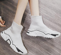 Wholesale nice shoe boot for sale - Group buy Women s elastic socks shoes Training Sneakers buy unique comfortable cool bass court nice walking gym jogging online stores girl ladies boot
