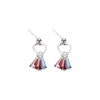 gümüş takı satıcıları toptan satış-Kadınlara 5 Çiftleri A Lot için Sıcak Satıcı% 100 Otantik 925 Gümüş Püskül Küpe Kristal Moda Takı