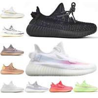 ingrosso scarpe zebra per le donne-adidas yeezy boost 350 v2 Scarpe da ginnastica da uomo nere riflettenti statiche Kanye West Bred Zebra rosa statico Black Angel Women Designer Sport Sneakers Size36-45