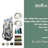 lazerli ışıklı ipl toptan satış-Profesyonel ipl lazer epilasyon + rf radyo frekansı cilt liftting e ışık makinesi en iyi kalite ile ipl elight lazer makinesi