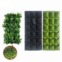 asılı bahçe çantası toptan satış-Cepler Dikim Çanta Duvar Dikey Yeşillendirme Asılı Bahçe Açık Bitki Büyümek Çanta Dikim Bahçe Çantası LJJK1743