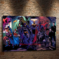 Wholesale batman painting for sale - Group buy Super Hero Batman Halley Quinn Canvas Painting Living Room Home Decor Modern Mural Art Oil Painting