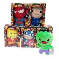 ingrosso cartoni animati-Movie 12CM Cartoon piccolo ciondolo peluche Avengers Union Wedding regalo evento cattura baby doll giocattolo per bambini regali per bambini giocattoli