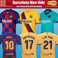 messi formaları toptan satış-Yeni 19 20 Barcelona 21# F.DE JONG 17# GRIEZMANN Ev 10 # Messi Futbol Formaları 9 # SUAREZ 23 # MUTITI Jersey Maillot Camisas de futbol PIQUE Vidal Dembele Futbol Gömlekleri