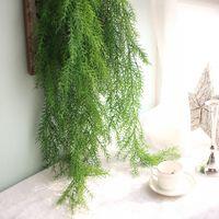 Wholesale artificial hanging plant decoration wedding resale online - 105cm Pine Needle Ivy Vine Artificial Plants For Home Wedding Decoration Fake Leaf Diy Hanging Garland Artificial Flowers