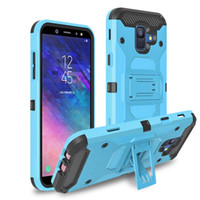 Wholesale galaxy s5 kickstand cover resale online - Tough Armor Defender Rugged Case for Samsung Galaxy S5 S6 J5 J7 Prime J1 J120 J2 G530 Shockproof Cover Belt Clip Kickstand