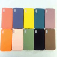 Wholesale apple phone celular for sale – best Matte Frosted Soft TPU For Iphone XR Xs Max X XS Silicone Rubber Colorful Luxury Phone Cover Unique Celular Coque