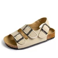 Wholesale soft leather comfort shoes for sale - Group buy Ortoluckland Baby Summer Boys Shoes PU Leather Cork Outsole Kids Sandals Beach Casual Shoes Comfort For Girls School Sandals T200427