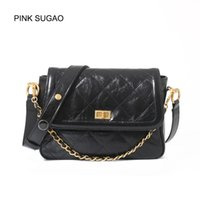 Wholesale saddle color for sale - Group buy Pink sugao color luxury shoulder bag for women designer fashion crossbody bags top quality genuine leather messenger bags saddle chain bag