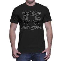 canlı yayın toptan satış-Eller yukarı, ateş etmeyin! - Tüm Yaşamlar Madde Eşitliği Erkek Tişörtü