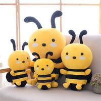 travesseiros bonitos para meninas venda por atacado-20 centímetros Bee Plush Toy Cute Girl almofada Bichos de pelúcia bonecas querida presente Atividade Festival de aniversário presente de Natal