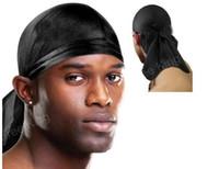 Wholesale hip hop rap cap for sale - Group buy summer dancer DJ Bandana Durag DU RAG Satin Noir Caps Hip Hop Rap Cap Do Rag Sports Unisex Head Scarf men head scarf dancer DJ street scarf