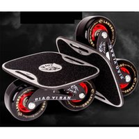 Wholesale skateboard decks online - Cool Drift Board Two PU Wheels Aluminum alloy Skateboard For Freeline Roller Road Drift Skates Antislip Deck Skates Wakeboard IB97