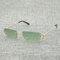 gafas de color teñido al por mayor-Pequeñas gafas de sol sin montura cuadrada de los hombres Gafas de sol Marco Tinte Color al aire libre Anteojos para la decoración Colorida Elección de gafas Gafas 827