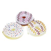 lutscherrohr großhandel-Donutpfeifen Bon Bon Candycane Lollipop Handpfeife Verschiedene Farben Tobocco Pipe Swirl Spring Colored Hand Pipes