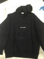 Wholesale black skate hoodie online - 2018 paris saint Hoodies Autumn Logo Box Sweatshirts women Pullover Fleece Skate Top men HipHop Sportswear