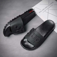 Wholesale new sandals pu for men resale online - Slippers for Men and Women Fashionable Outside Wear New Type of Sandals Genuine Deluxe Fashionable Individual Outdoor Slip proof Soft Bo