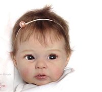 ücretsiz doğmuş oyuncak bebekler toptan satış-Toptan 22 inç Yumuşak Vinil Reborn Bebek Bebekler için Kitleri DK-14 Aksesuarları DIY Kalıp Kitleri DIY için Gerçekçi Oyuncaklar ücretsiz kargo
