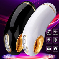 Wholesale adult sex toy electric pussy resale online - 10 Speed Automatic Masturbation Cup Vibrating Sucking Male Masturbator Electric Sex Toys Adults Men Tight Vagina Real Pussy