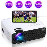 led-projektoren großhandel-E400S WiFi Mirroring Mini Projektor 1600 lms protable Filmprojektor mit 30.000 Stunden HDMI USB 3.5mm Buchse LED Lampe Heimprojektor