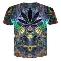 galaxie druck t-shirts für männer großhandel-2019 neue sommer stil herren t-shirt bunte galaxy space psychedelic floral 3d print frauen / männer t-shirt hip hop casual tees tops