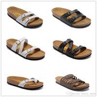 zapatillas de corcho de hombre al por mayor-zapatillas de verano para hombres y mujeres con zapatos planos, zapatillas de corcho, zapatos de ocio para mujer, sandalias mixtas estampadas Fashion Flats
